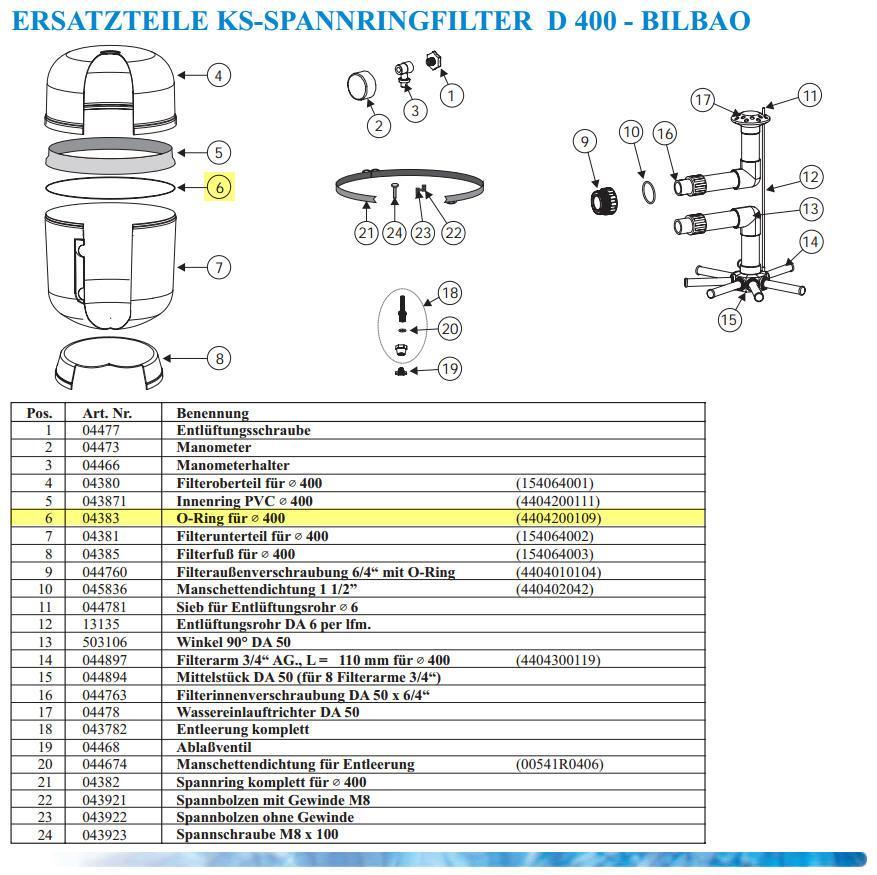 O-Ring für KS-Filter D 400