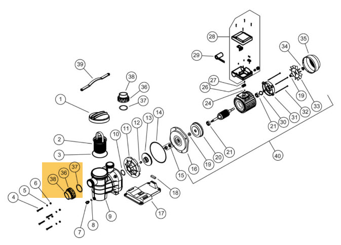 Anschlussverschraubung Pumpe Torpedo - per Stk.